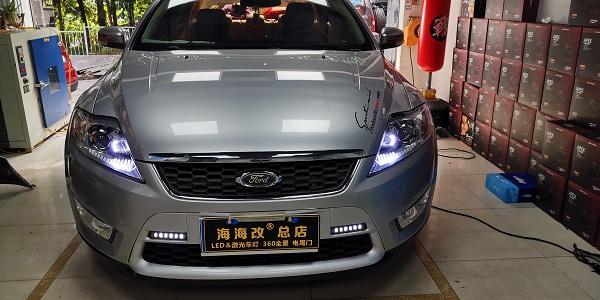 蒙迪欧致胜原车卤素灯升级LED双光加远光炮完美升级